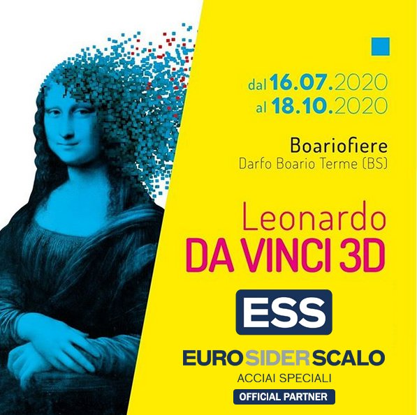"""EURO SIDER SCALO contribuisce con un sostengo diretto alla mostra immersiva """"LEONARDO DA VINCI 3D"""""""